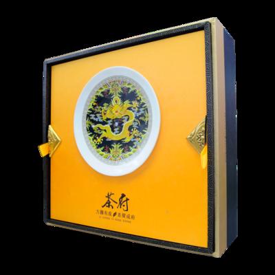 上画礼茶·茶府高档金色铁罐·潮州凤凰单枞茶·单丛茶·浓香型乌龙茶